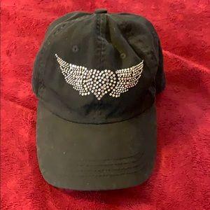 🛍 Embellished baseball cap - black